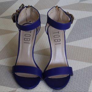 Tobi Shoes - Tobi Royal Blue Heels Size 5